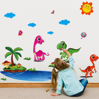 In  the new creative dinosaurs to stick on the wall wall mobile household wall stick children room wall SM6