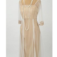 Nataya Dresses-Downton Abbey Asymmetric Hem Dress