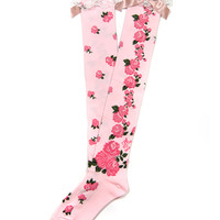 Dramatic Rose Over Knee - Pink [142KS11-7496-pk] - $29.00 : Angelic Pretty USA