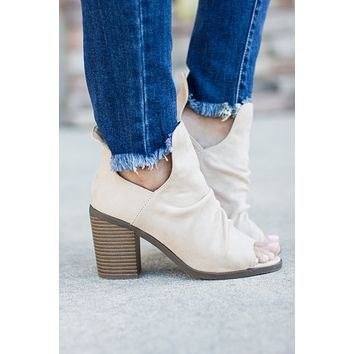 Get Right Faux Suede Bootie - Stone