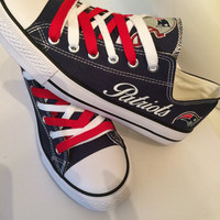 New England patriots women's tennis shoes please read description before purchasing