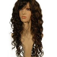 """NEW fashion HOT sexy Long Dark Brown Blonde Curly Wavy Full wigs Hair wigs for girls and women 24"""" 60CM"""