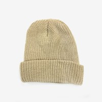 Brushed Basic Beanie in Tan