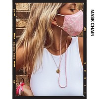 Pink Beaded Mask Chain