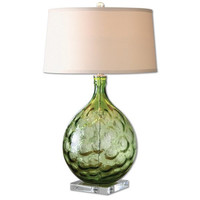Uttermost Florian Green Glass Table Lamp - 26199
