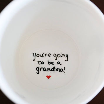 New Grandma Gift, Pregnancy Announcement Coffee Mug