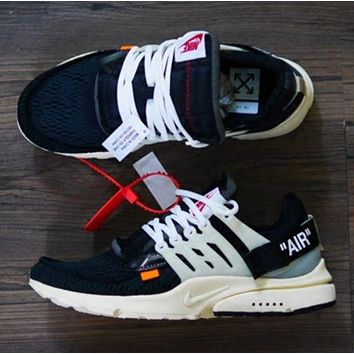 OFF-WHITE x NIKE Air Presto men's and women's casual sports shoes F