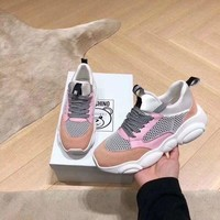 MOSCHINO Women's Leather Sneakers Shoes-DCCK