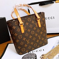 Louis Vuitton LV Fashionable Women Shopping Leather Handbag Tote Crossbody Satchel Shoulder Bag