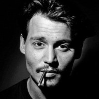 Johnny Depp (Smoking, B&W) Glossy Movie Photo Photograph Print Photo at AllPosters.com