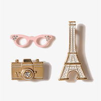 Eiffel Tower Pin Set | FOREVER 21 - 1027705541