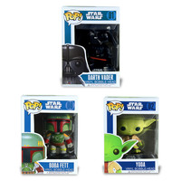 Funko Pop Star Wars Darth Vader Yoda Vinyl Bobblehead Boba Fett BB-8 Figure Model Action Figure Vinyl Bobble-head Black Toy