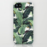 Tropical Banana Leaf Print iPhone & iPod Case by Chloe Vaux