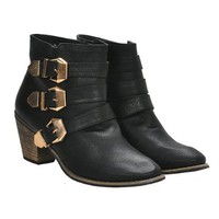 ZLYC Vintage Distressed Mid Heel Stacked Ankle Boots
