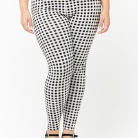 Plus Size Gingham Leggings