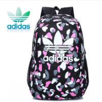 """""""Adidas""""Canvas backpack couples men's and women's junior high school students leisure backpack bag institute wind movement"""