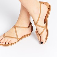 New Look Gala Nude Strap Flat Sandals