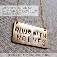 Runs With Wolves - Handmade Gold Necklace