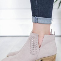 Eleanor Booties - Taupe