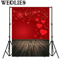 Vinyl Red Love Theme Studio Photo Backdrop Photography Background Cloth Photo Booth Props Valentine's Day Wedding Events Decor