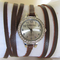 Handmade High Quality Small Women's Mini Double Strap Bracelet Watch (double band). 30% Off - 59 Dolars Only. FREE SHIPPING