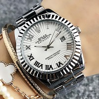 Rolex Fashion New Women Men Personality Leisure Wristwatch Watch