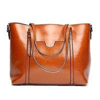 Women Fashion Handbag Leather Tote Shoulder Bags