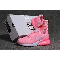 Nike Air Max 270 ¡°White/Pink¡± Running Shoes