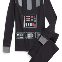 Boy's Hanna Andersson 'Star Wars - Vader Suit' Organic Cotton Two-Piece Pajamas,