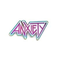 Anxiety Anodized Pin