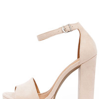 Chinese Laundry Avenue Soft Pink Suede Platform Heels