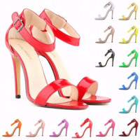 Stunning Ankle Strap Candy High Heels