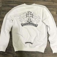 Chrome Hearts Couple Lovers Wear Fall Sweater Sweatshirt white H-ALG-CPFS