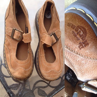 Dr Martens Shoes, Dr Martens Mary Janes, Dr Martens Chunky Shoes, Chunky Mary Janes, Brown  Dr Martens, Brown Mary Janes, Dr Martens 6M