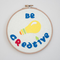 Be Creative Wall Art -Be Creative Wall Decor- Be Creative 3D Wall Art-Be Creative Wall Hanging-Be Creative Home Decor-Be Creative