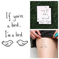 Take Note - Temporary Tattoo (Set of 2)