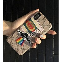 Gucci Trending Women Men Stylish UFO Embroidery Flying Saucer iPhone X iPhone8/7plus Cortical Phone Shell