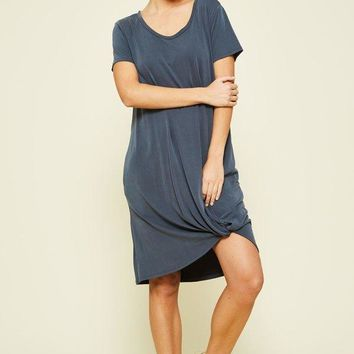 Casual Grey T-Shirt Dress