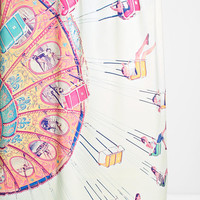 Shannon Clark For DENY Dizzying Heights Shower Curtain