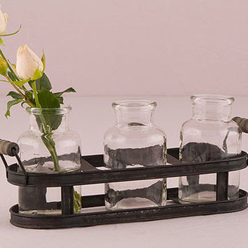 Vintage Garden Milk Bottle Vase Centerpiece