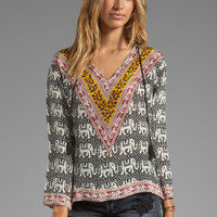 Tolani EXCLUSIVE Lizzy Hoodie Top in in Elephants from REVOLVEclothing.com