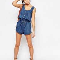 New Look | New Look Denim Romper at ASOS