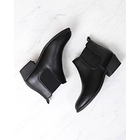 Ankle Chelsea Bootie in Black