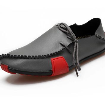 Real Leather Moccasins Men