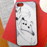 Iphone 5 Decorative Cell Phone Case, Musical Ear Case