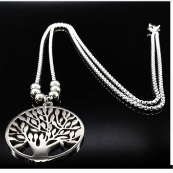 Unisex Family Tree Bohemian Pendant Necklace
