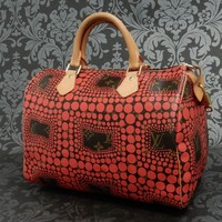 Rise-on LOUIS VUITTON MONOGRAM YAYOI KUSAMA RED SPEEDY 30 Handbag #1