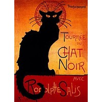 Chat Noir poster Metal Sign Wall Art 8in x 12in