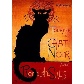 """Chat Noir poster Metal Sign Wall Art 8in x 12in 12""""x16"""""""