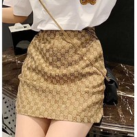 GUCCI New fashion more letter print golden shorts skirt women